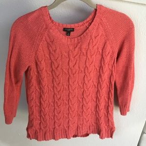 Talbots Linen Sweater Coral